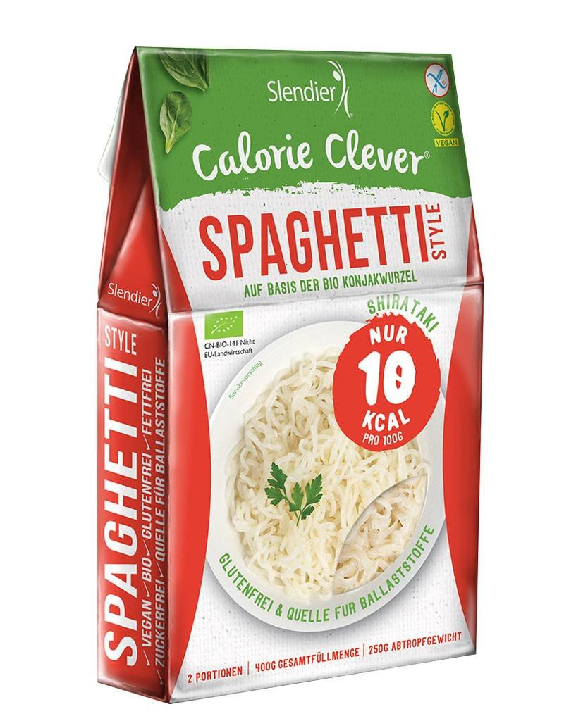 Slendier Shirataki Italien Probierpaket: 3 x Spaghetti-Style 250g, 3 x Fettuccine-Style 250g