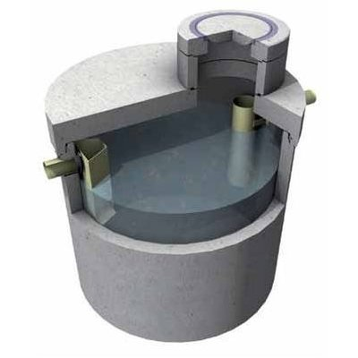 Reinforced concrete grease traps with integrated sand trap silt, CE mark