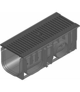 Hauraton Afvoergoot Recyfix Standaard 150 type 0105, l=0,5m, gietijzeren sleuvenrooster klasse C/250KN