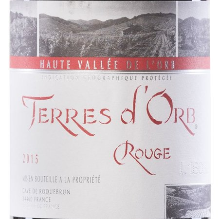 Cave de Roquebrun Terres d'Orb Rouge 2015