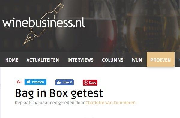 Bag in Box wijnen getest door winebusiness.nl