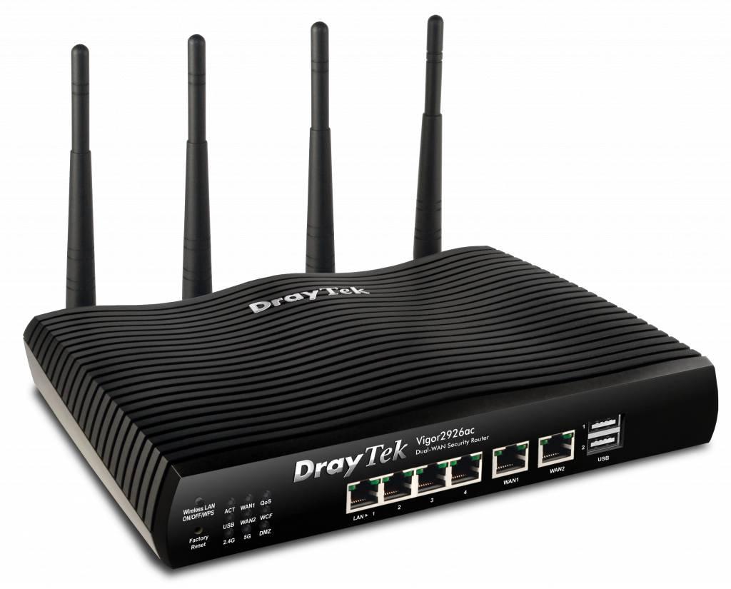 DrayTek Vigor 2926ac Dual gigabit WAN breedband router 5 gigabit LAN, 802.11ac wireless (