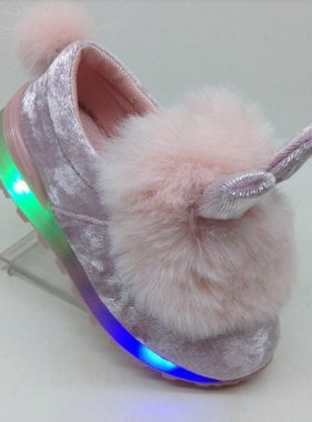 Bunny shoes with fur light pink