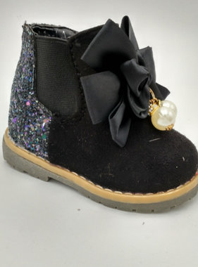 Boots black with glitter
