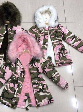 Winterjas roze of zwart