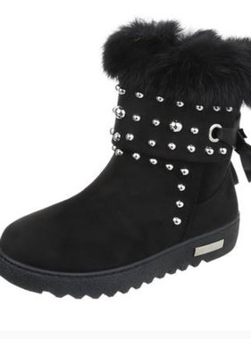 Winrterboots with pebbles black