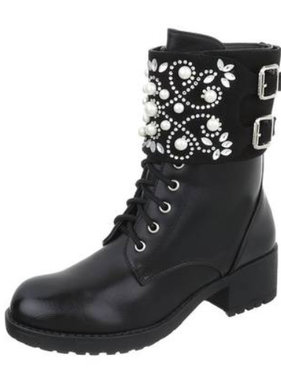Boot with stones black