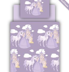 Beddengoed incl. hoeslaken - opdruk prinses paars