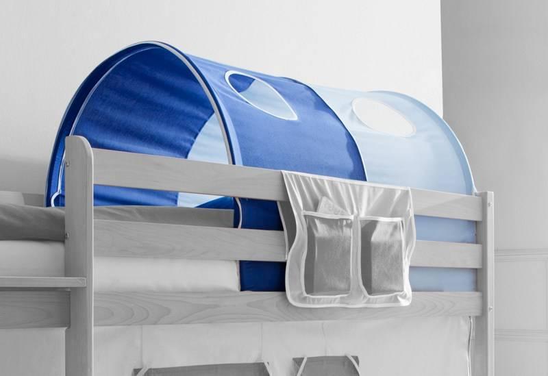 Tunnel voor (half)hoogslapers en stapelbedden - lichtblauw-donkerblauw