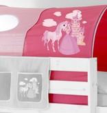 Tunnel voor (half)hoogslapers en stapelbedden - Horse (pink)