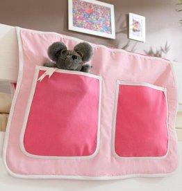 Bedtas voor (half)hoogslapers en stapelbedden - roze-pink
