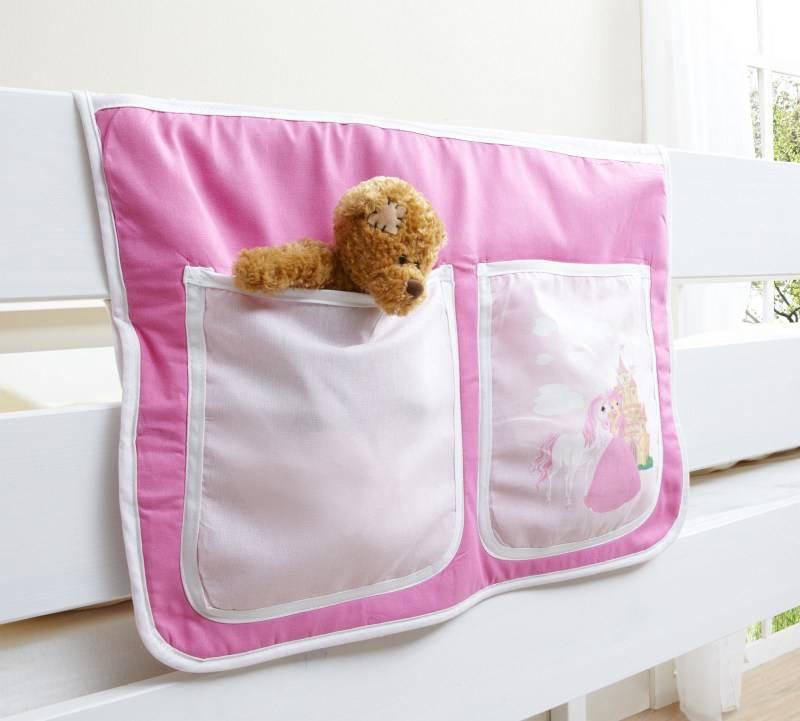 Bedtas voor (half)hoogslapers en stapelbedden - Horse - pink