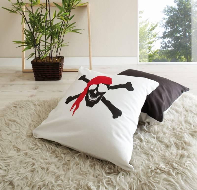 Kussenset - Piraat - zwart-wit