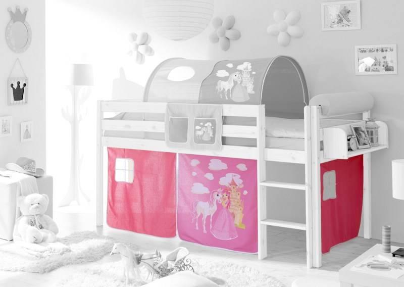 Gordijnset - Horse - pink