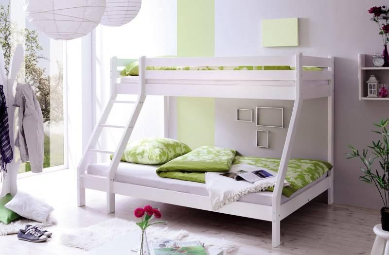 stapelbed noah grenen wit gelakt extra breed. Black Bedroom Furniture Sets. Home Design Ideas