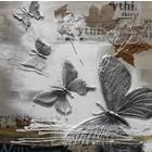 Schilderij Vlinders met bladeren 100x100cm