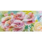 Schilderij Flower sunshine 70x140cm