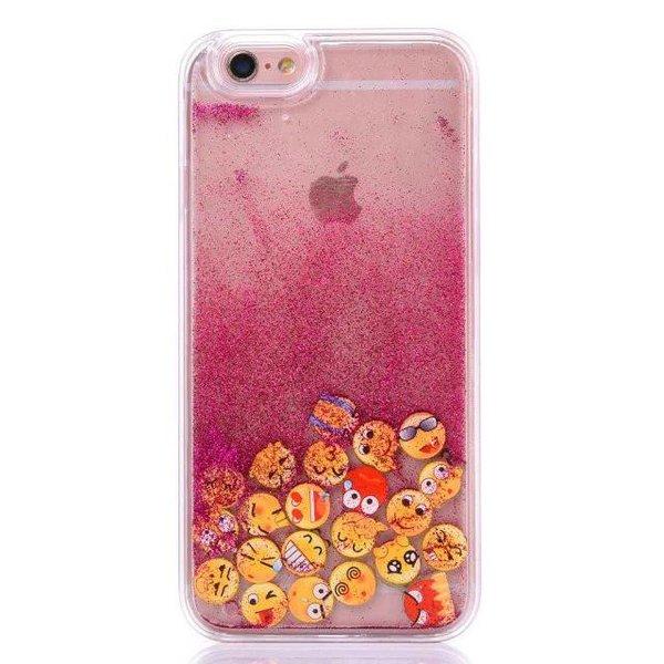"""iPhone 6/6S Case """"Emoji"""" - Glitzer/pink"""
