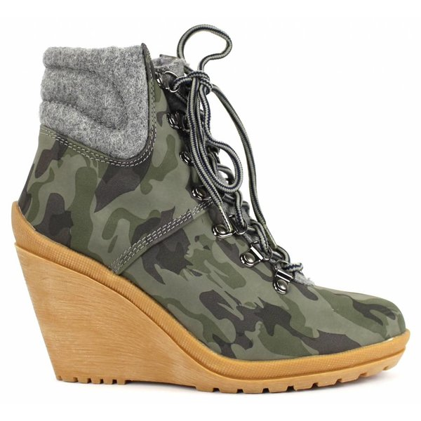 *dovia* Winterboots mit Keilabsatz - camouflage