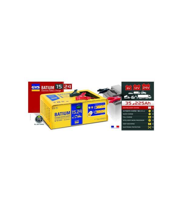 GYS Batium 15/24 accu lader 6-12-24 volt