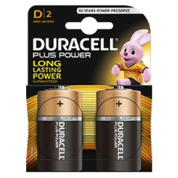 Batterij Plus Power Duralock D blister 2