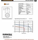 Duracell Hoorapparaat batterij DA312 bruin (6 stuks)