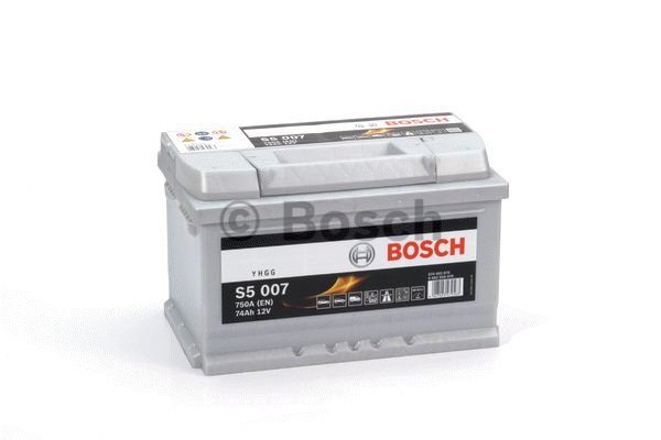 bosch auto accu 12 volt 74 ah type s5 007 accu service. Black Bedroom Furniture Sets. Home Design Ideas