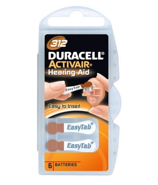 Proefpakket: 3 pakjes met 6 batterijen No. 312 bruin