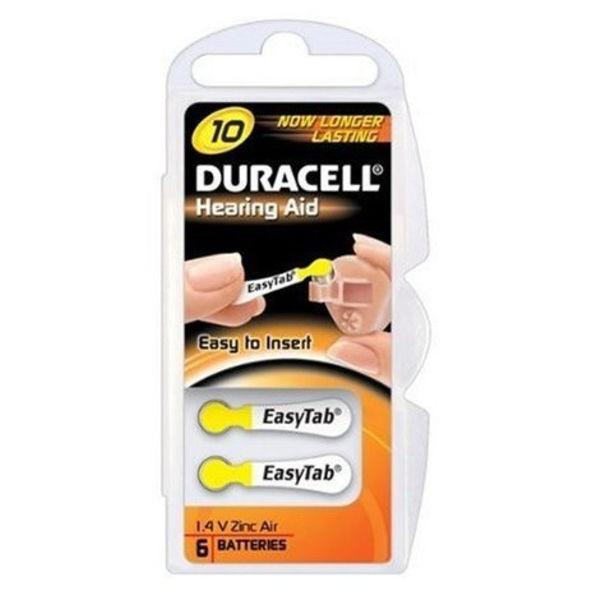 DA10 geel hoorapparaat batterij