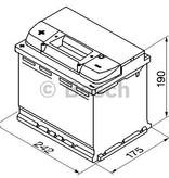 Bosch Auto accu 12 volt 60 ah Type S4006 + links