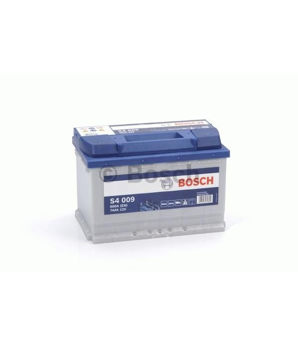 Bosch Auto accu 12 volt 74 ah Type S4009 + links