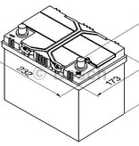 Bosch Auto accu 12 volt 60 ah Type S4024