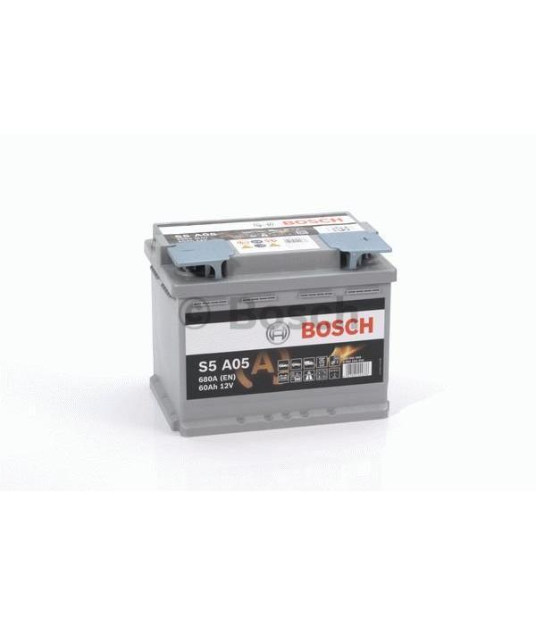 Bosch Auto accu AGM 12 volt 60 ah Type S5A05
