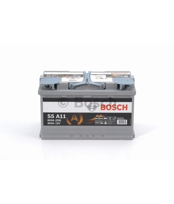Bosch Auto accu AGM 12 volt 80 ah Type S5A11