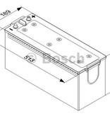 Bosch Startaccu 12 volt 145 ah type T5 075