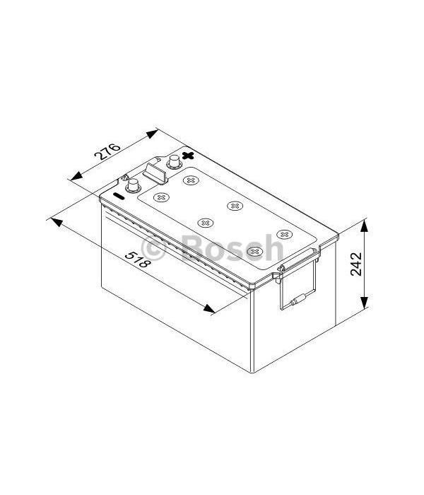 Bosch Accu semi tractie 12 volt 230 ah Type L 5080