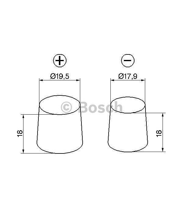 Bosch Auto accu 12 volt 41 ah Type S3001