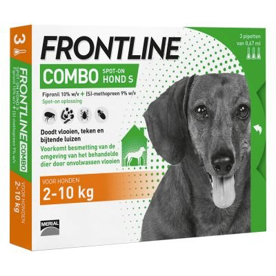Afbeelding Frontline Combo Spot-On Hond S 6 pipetten door Petduka