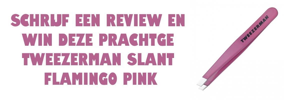 WIN Tweezerman Slant Flamingo Pink Pincet