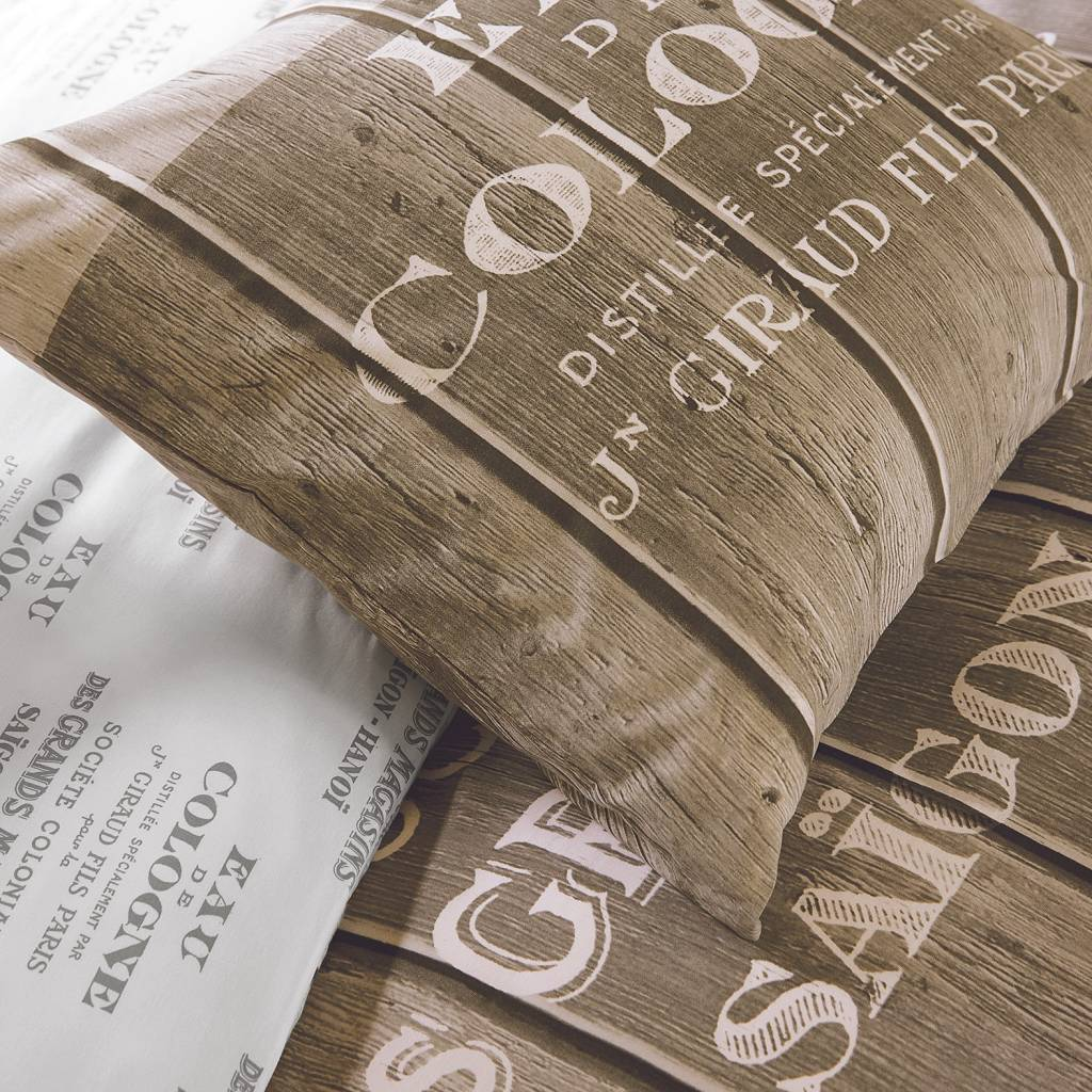 dekbedovertrek lits jumeaux in steigerhoutprint   Bedlinnenexpert