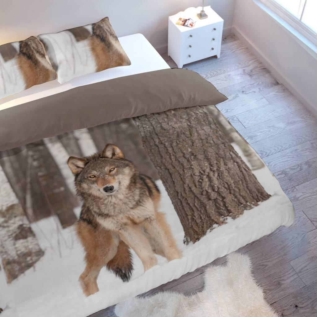 dekbedovertrek wolf   Bedlinnenexpert