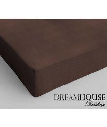 Dreamhouse Bedding Katoen Hoeslaken Bruin