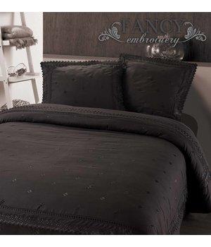 "Fancy Embroidery Luxe dekbedovertrekken Antraciet ""Royal Luxury"""