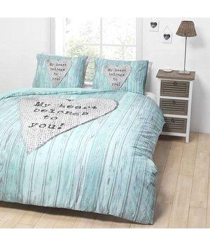 Essara luxe dekbedovertrekken ''my heart'' truquoise