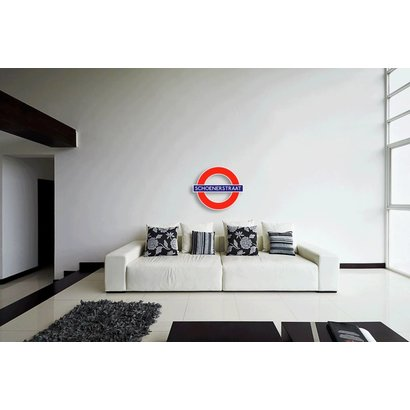 Airpart Art - London Underground Sign (met eigen straatnaam)