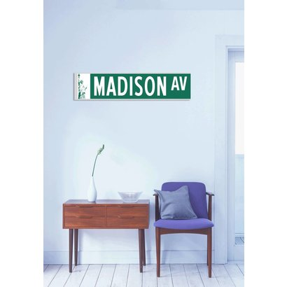 Airpart Art - Streetsign Madison Avenue