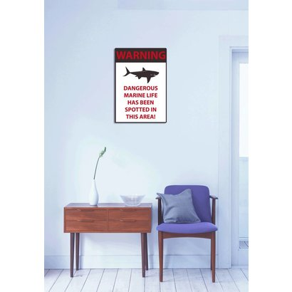 Airpart Art - Warning Bord Sharks