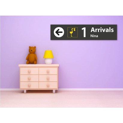 Airpart Art - Geboortebord Ooievaar