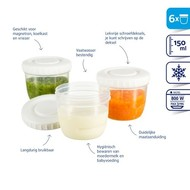 Difrax Voeding bewaarbakjes 6st