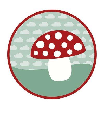 Muursticker paddenstoel